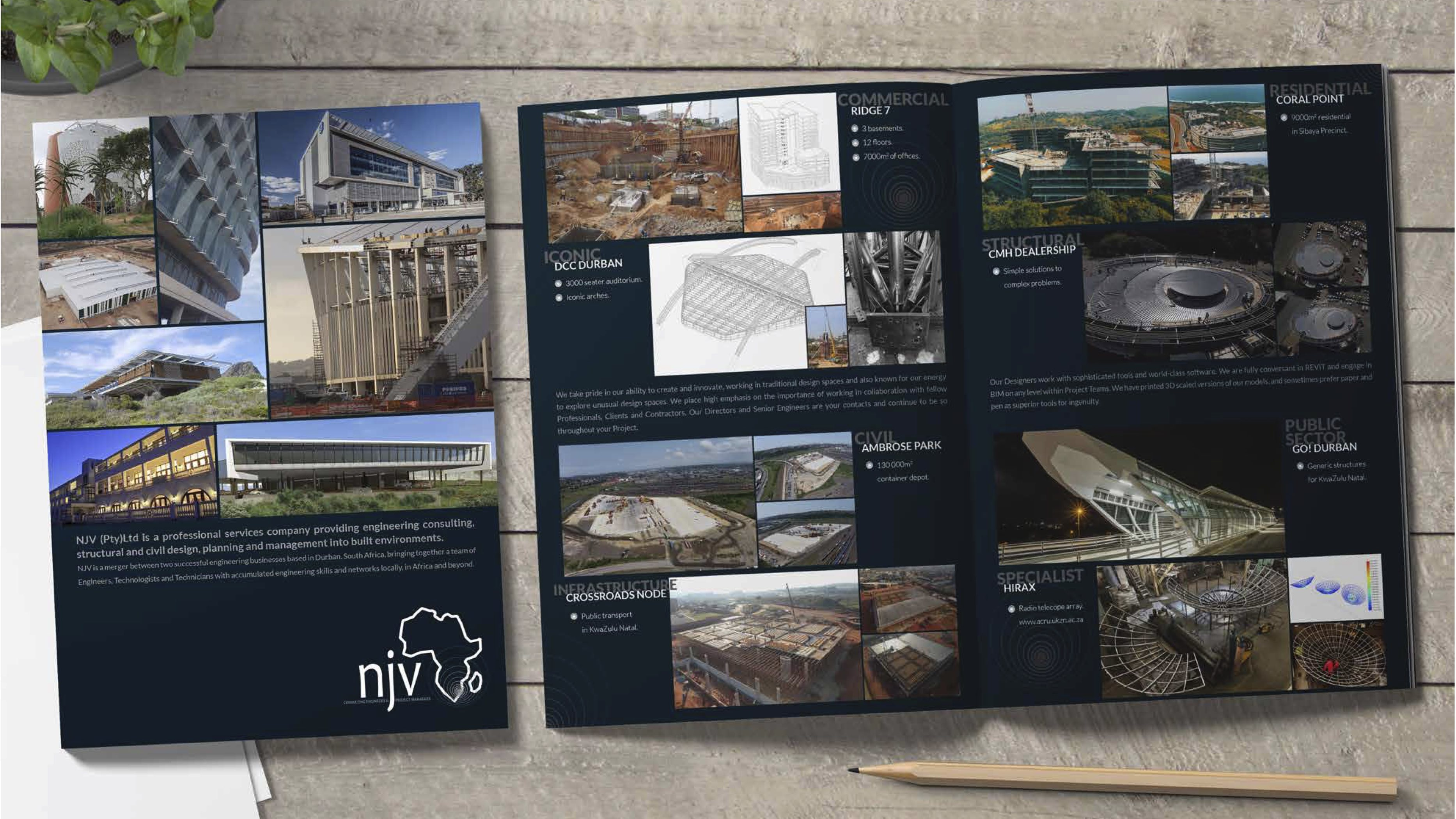 enlarged brochure for NJV Consultants